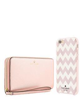 kate-spade-new-york-new-york-gift-set-zip-wristlet-rose-gold-amp-chevron-hardshell-case-for-iphone-66s