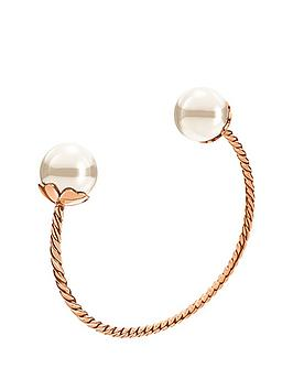 folli-follie-grace-rose-gold-plated-shell-coated-bangle