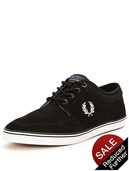 fred-perry-fred-perry-stratford-suede-plimsoll-black
