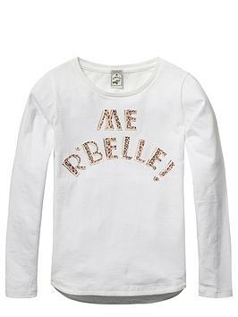 scotch-rbelle-girls-slogan-jersey-tee
