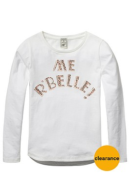 scotch-rbelle-girls-slogan-jersey-tee