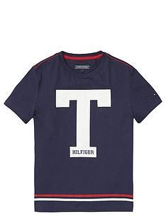 tommy-hilfiger-ss-t-hilfiger-tee-navy