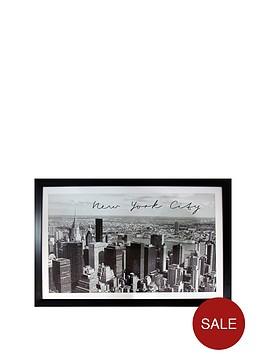 arthouse-new-york-city-mono-framed-print-ndash-90-x-60-cm