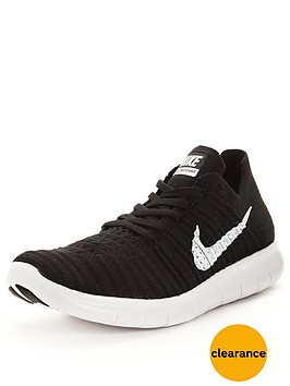 nike-free-run-flyknit-shoe-blackwhite