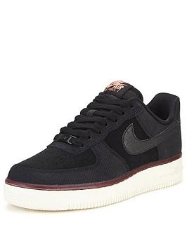 nike-air-force-1-07-suede-shoe-black
