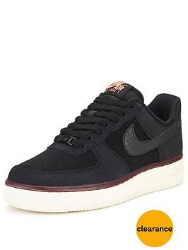 nike-air-force-1-07-suede-shoe-black