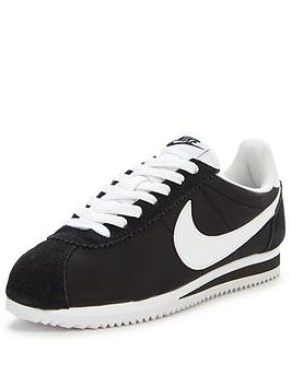 nike-classic-cortez-15-nylon-fashion-trainer-black