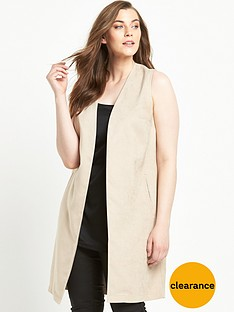 so-fabulous-suedette-split-back-sleeveless-jacket-nude