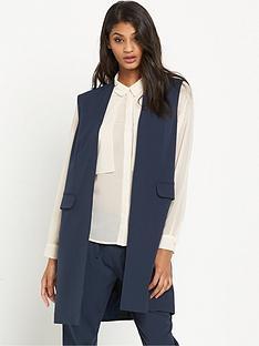 vero-moda-charlotte-sleeveless-blazer-navynbsp