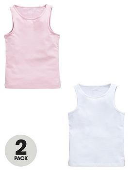 Photo of Calvin klein girls white/pink cami vests -2 pack-