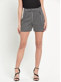 v-by-very-gingham-belted-short