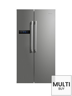 swan-sr70120snbsp90cm-american-style-double-door-fridge-freezer-silver