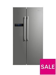 Swan SR70120S90cm American-Style Double Door Frost-Free Fridge Freezer - Silver