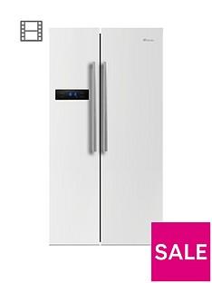 Swan SR70120W90cm American-Style Double Door Frost-Free Fridge Freezer - White Gloss Finish