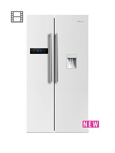 swan-90cm-american-style-double-door-fridge-freezer-with-water-dispenser-white
