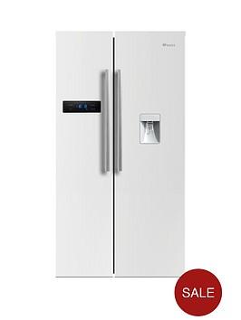 swan-sr70110wnbsp90cm-american-style-double-door-fridge-freezer-with-water-dispenser-white