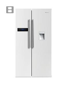 Swan SR70110W90cm American-Style Double Door Frost-FreeFridge Freezer with Water Dispenser - White