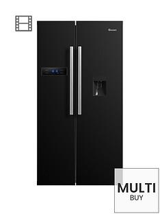 swan-sr70110bnbsp90cm-american-style-double-door-frost-free-fridge-freezer-with-water-dispenser-black