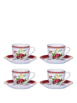 retro-rose-cup-and-saucer-set-of-4