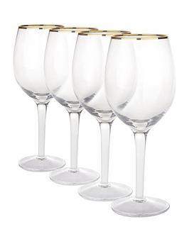 gold-band-wine-glasses-4-pc
