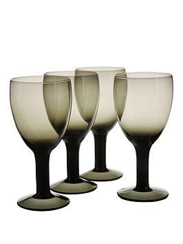 smokey-black-wine-glasses-4pc