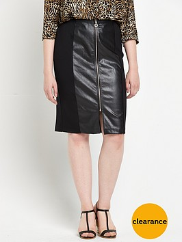 v-by-very-curve-pu-panel-zip-ponte-jersey-skirt-black
