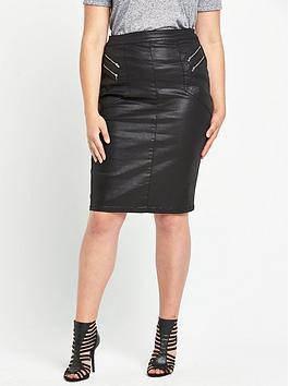 so-fabulous-coated-zip-front-skirtnbsp