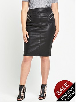 so-fabulous-coated-zip-front-skirtnbsp