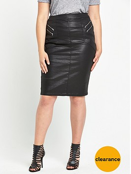 v-by-very-curve-coated-zip-front-skirtnbsp