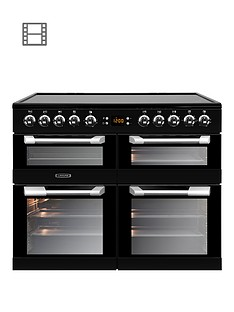 Leisure CS100C510K Cuisinemaster 100cm Electric Range Cooker with Ceramic Hob and Optional Connection – Black