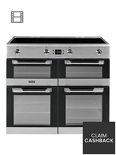 leisure-cs100d510x-cuisinemaster-100cm-electric-range-cooker-with-induction-hob-and-optional-connection-stainless-steel