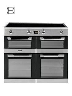 Leisure CS100D510X Cuisinemaster 100cm Electric Range Cooker with Induction Hob and Optional Connection - Stainless Steel