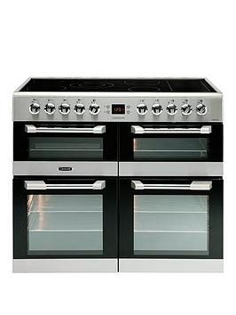 Image of Leisure Cs100C510X Cuisinemaster 100Cm Electric Range Cooker With Ceramic Hob And Optional Connection - Stainless Steel - Cooker Only