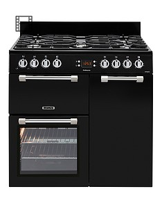 leisure-ck90g232k-cookmaster-90cm-wide-gas-range-cooker-with-electric-fan-oven-black