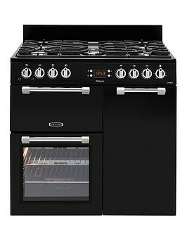 Leisure Ck90G232K Cookmaster 90Cm Wide Gas Range Cooker With Electric Fan Oven - Black