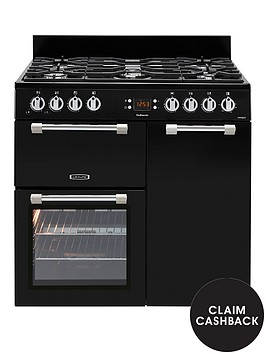 leisure-ck90g232k-cookmaster-90cm-gas-range-cooker-with-electric-fan-oven-with-optional-connectionnbsp--black