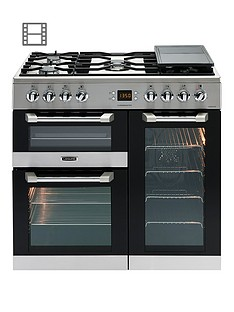 Leisure CS90F530X Cuisinemaster 90cm Dual Fuel Range Cooker with Connection - Stainless Steel