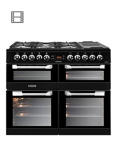 Leisure CS100F520K Cusinemaster 100cm Dual Fuel Range Cooker with Optional Connection - Black
