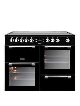 Leisure Ck100C210K Cookmaster 100Cm Electric Range Cooker With Ceramic Hob And Optional Connection - Black - Cooker Only Best Price, Cheapest Prices