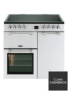 leisure-ck90c230s-cookmaster-90cm-electric-range-cooker-with-ceramic-hob-including-connection-silver