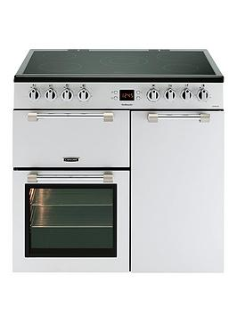 Leisure Ck90C230S Cookmaster 90Cm Electric Range Cooker With Ceramic Hob And Optional Connection - Silver - Cooker Only Best Price, Cheapest Prices