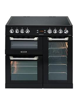 Leisure Cs90C530K Cuisinemaster 90Cm Electric Range Cooker With Ceramic Hob And Optional Connection - Black - Cooker Only Best Price, Cheapest Prices