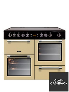 leisure-ck100c210c-cookmaster-100cm-electric-range-cooker-with-ceramic-hob-including-connection-cream