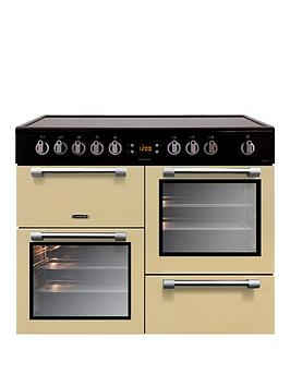 Leisure Ck100C210C Cookmaster 100Cm Electric Range Cooker With Ceramic Hob And Optional Connection - Cream - Cooker Only Best Price, Cheapest Prices