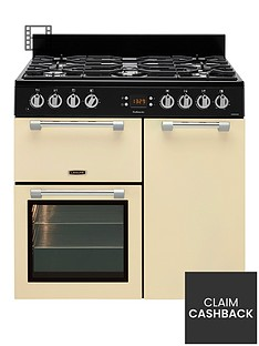 leisure-ck90f232c-cookmaster-90cm-wide-dual-fuel-range-cooker-cream