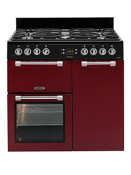 Leisure Ck90F232R Cookmaster 90Cm Dual Fuel Range Cooker - Red Best Price, Cheapest Prices