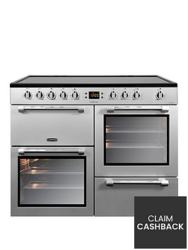 leisure-ck100c210s-cookmaster-100cm-electric-range-cooker-with-ceramic-hob-including-connection-silver