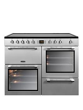 Leisure Ck100C210S Cookmaster 100Cm Electric Range Cooker With Ceramic Hob And Optional Connection - Silver - Cooker Only Best Price, Cheapest Prices