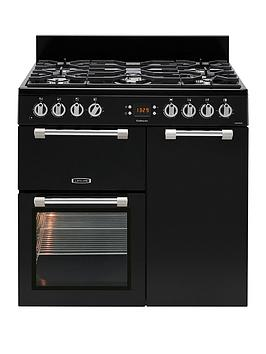 Leisure Ck90F232K Cookmaster 90Cm Dual Fuel Range Cooker - Black Best Price, Cheapest Prices