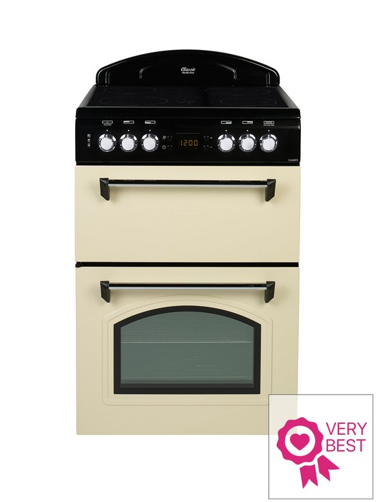 leisure cla60cec 60cm electric classic mini range cooker with